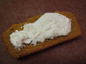 Pumpkin Bread with Chevre